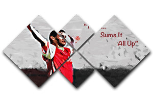Tony Adams That Sums It All Up 4 Square Multi Panel Canvas  - Canvas Art Rocks - 1
