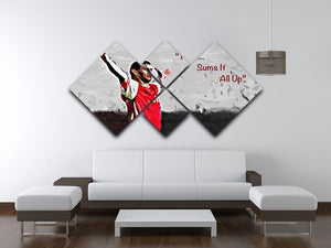Tony Adams That Sums It All Up 4 Square Multi Panel Canvas - Canvas Art Rocks - 3