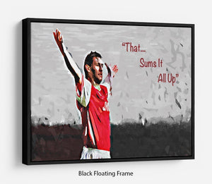 Tony Adams That Sums It All Up Floating Frame Canvas