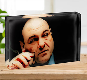Tony Soprano Acrylic Block - Canvas Art Rocks - 2