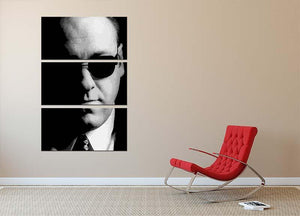 Tony Soprano Black and White 3 Split Panel Canvas Print - Canvas Art Rocks - 2