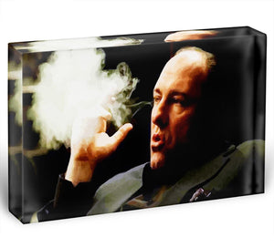 Tony Soprano Cigar Smoke Acrylic Block - Canvas Art Rocks - 1