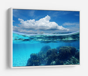 Top half with blue sky and cloud HD Metal Print