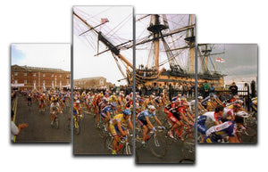 Tour de France in Portsmouth 4 Split Panel Canvas - Canvas Art Rocks - 1