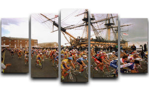 Tour de France in Portsmouth 5 Split Panel Canvas - Canvas Art Rocks - 1