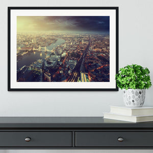 Tower Bridge in sunset time Framed Print - Canvas Art Rocks - 1