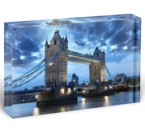 Tower Bridge in the evening Acrylic Block - Canvas Art Rocks - 1