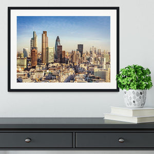 Tower Lloyds of London and Canary Wharf Framed Print - Canvas Art Rocks - 1