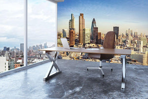 Tower Lloyds of London and Canary Wharf Wall Mural Wallpaper - Canvas Art Rocks - 3