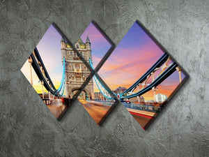 Tower bridge Motion 4 Square Multi Panel Canvas  - Canvas Art Rocks - 2