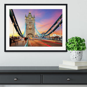 Tower bridge Motion Framed Print - Canvas Art Rocks - 1
