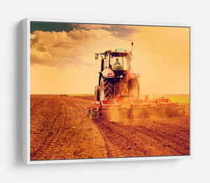 Tractor in sunset HD Metal Print