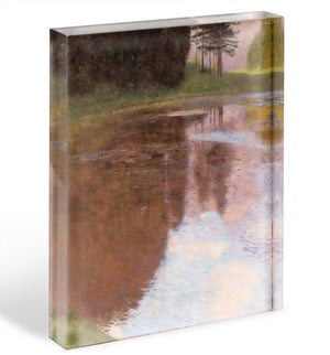 Tranquil Pond near Salzburg by Klimt Acrylic Block - Canvas Art Rocks - 1
