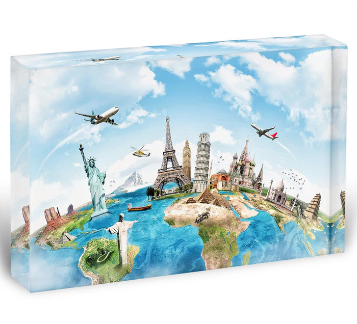 Travel the world Acrylic Block
