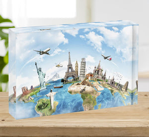 Travel the world Acrylic Block - Canvas Art Rocks - 2
