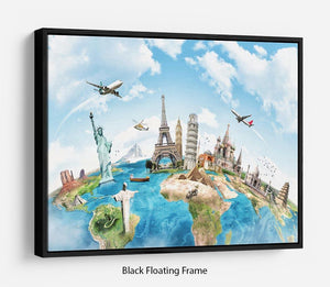 Travel the world Floating Frame Canvas