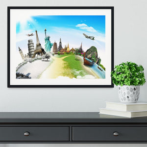 Travel the world monument Framed Print - Canvas Art Rocks - 1