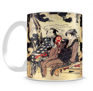Traveling couple by Hokusai Mug - Canvas Art Rocks - 2