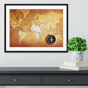 Treasure map background Framed Print - Canvas Art Rocks - 1