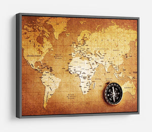 Treasure map background HD Metal Print