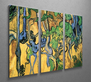 Tree Roots and Trunks by Van Gogh 3 Split Panel Canvas Print - Canvas Art Rocks - 4
