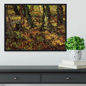 Tree Trunks with Ivy by Van Gogh Framed Print - Canvas Art Rocks - 2