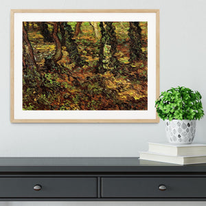Tree Trunks with Ivy by Van Gogh Framed Print - Canvas Art Rocks - 3