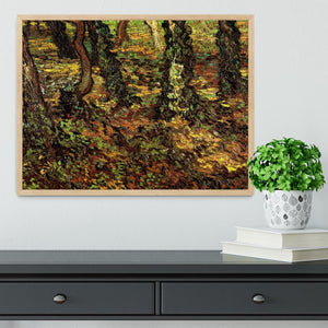 Tree Trunks with Ivy by Van Gogh Framed Print - Canvas Art Rocks - 4