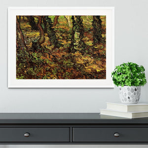 Tree Trunks with Ivy by Van Gogh Framed Print - Canvas Art Rocks - 5