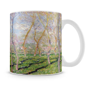 Trees in winter look at Bennecourt by Monet Mug - Canvas Art Rocks - 4