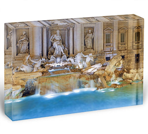 Trevi Fountain Rome Acrylic Block - Canvas Art Rocks - 1