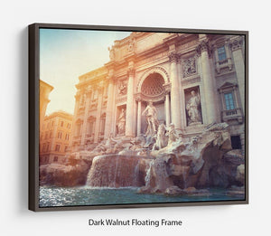 Trevi Fountain in Rome Italy Floating Frame Canvas