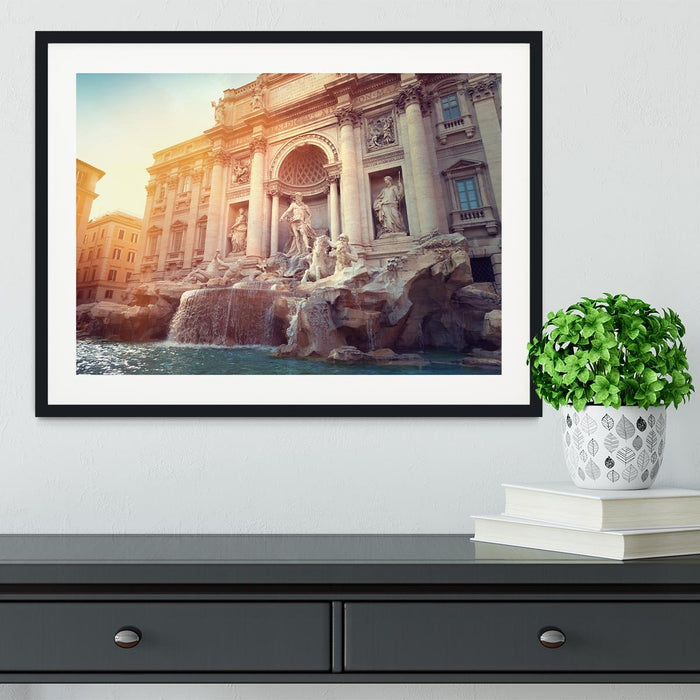 Trevi Fountain in Rome Italy Framed Print