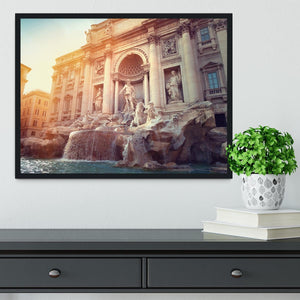 Trevi Fountain in Rome Italy Framed Print - Canvas Art Rocks - 2