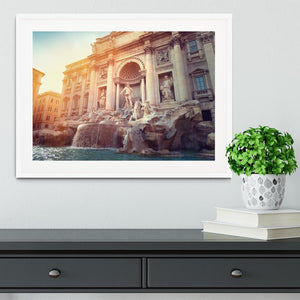Trevi Fountain in Rome Italy Framed Print - Canvas Art Rocks - 5