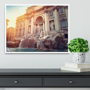 Trevi Fountain in Rome Italy Framed Print - Canvas Art Rocks -6