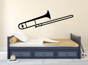 Trombone Wall Sticker - Canvas Art Rocks