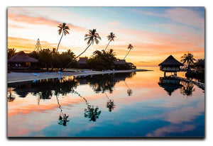 Tropical Sunset at Moorea Canvas Print or Poster - Canvas Art Rocks - 1
