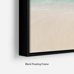 Tropical white sand beach and blue sky Floating Frame Canvas - Canvas Art Rocks - 2