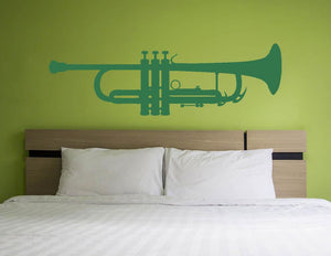 Trumpet Wall Sticker - Canvas Art Rocks
