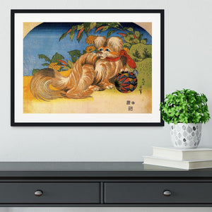 Tschin - the pet dog by Hokusai Framed Print - Canvas Art Rocks - 1