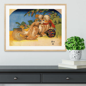 Tschin - the pet dog by Hokusai Framed Print - Canvas Art Rocks - 3