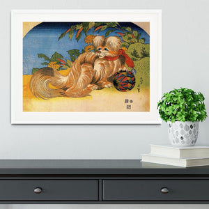 Tschin - the pet dog by Hokusai Framed Print - Canvas Art Rocks - 5