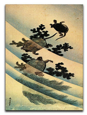 Turtles by Hokusai Canvas Print or Poster  - Canvas Art Rocks - 1