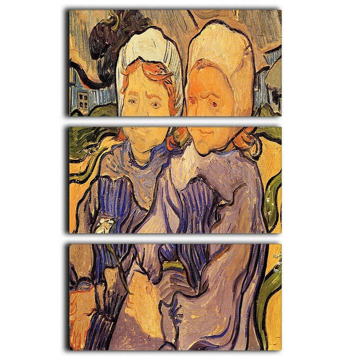 Two Children by Van Gogh 3 Split Panel Canvas Print