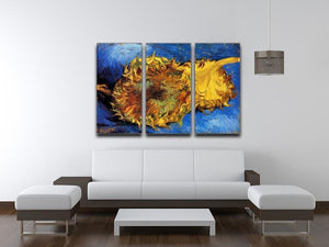 Two Cut Sunflowers 3 by Van Gogh 3 Split Panel Canvas Print - Canvas Art Rocks - 4