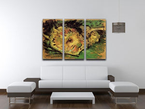 Two Cut Sunflowers by Van Gogh 3 Split Panel Canvas Print - Canvas Art Rocks - 4