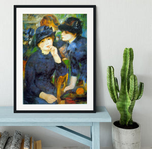 Two Girls by Renoir Framed Print - Canvas Art Rocks - 1