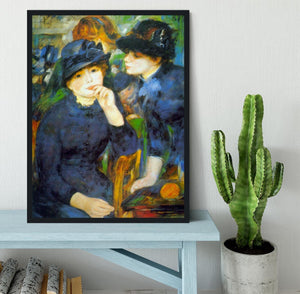 Two Girls by Renoir Framed Print - Canvas Art Rocks - 2