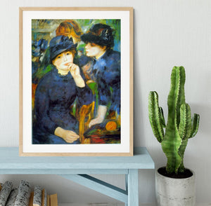 Two Girls by Renoir Framed Print - Canvas Art Rocks - 3